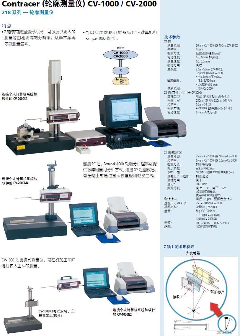日本三丰CV-1000/2000轮廓测量仪